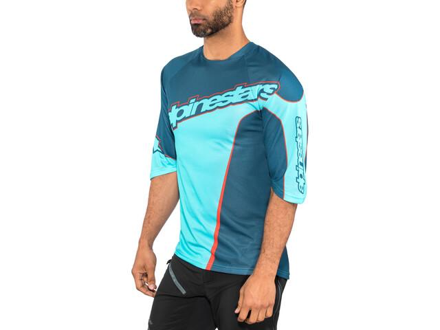 Alpinestars Crest 3/4 Maillot Hombre, poseidon blue/atoll blue